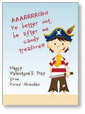 Little Pirate Personalized Valentine