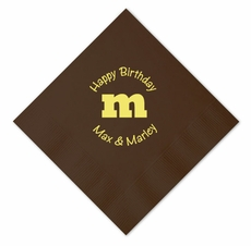 M&M's Birthday Party Luncheon Size Napkins