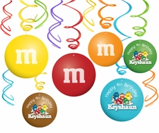 M&M's Party Hanging Spinners Decorations