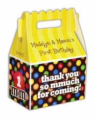 M&M's Party LARGE Personalized Gable Favor Box