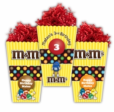 M&M's Party Large Popcorn Box