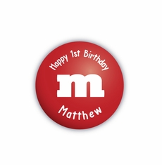 "M&M's Party Personalized 2.25"" Stickers"