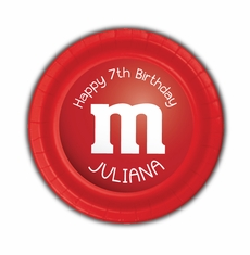 M&M's Party Personalized 7inch Cake Plates