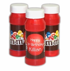M&M's Party Personalized Bubbles Favors