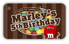 M&M's Party Personalized Favor Tags