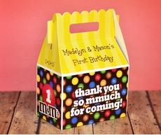 M&M's Party Personalized Gable Box Party Favor