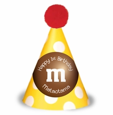 M&M's Party Personalized Party Hats