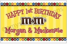 M&M's Personalized Party Posters