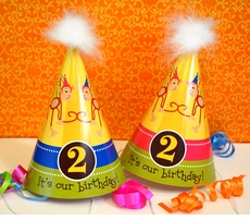 MADE-TO-MATCH<br>Custom Birthday Party Hats for Twins