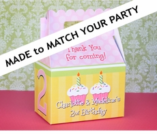 MADE-TO-MATCH<br>Personalized Gable Box Favor THEME OF YOUR CHOICE