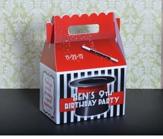 Magic Top Hat Personalized Gable Box Party Favor