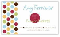Metro Dots on White Calling Card