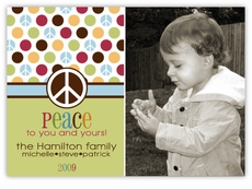 Metro Dots Peace Photo Christmas Card