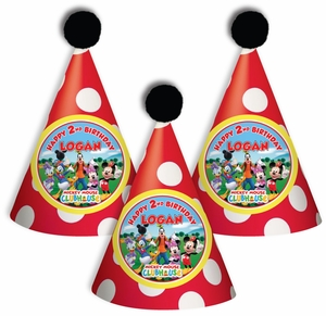 Mickey Mouse Clubhouse Personalized Guest Party Hats