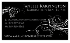 Midnight Elegance Calling Card