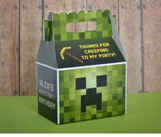 Minecraft Creeper Gable Favor Box