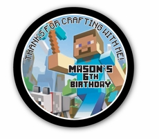 "MineCraft Personalized 3"" Glossy Stickers"
