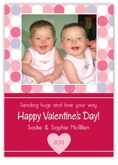Mini Disco Dots Valentine�s Day Photo Card