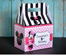 Minnie Mouse Pinky Dot Party Gable Favor Box