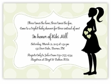 Mod Mama Girl-Boy Triplets Baby Shower Invitation