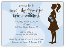 Mod Momma Twin Boys Baby Shower Invitation