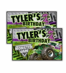 Monster jam grave digger truck party supplies monster jam grave digger monster truck party personalized party posters filmwisefo