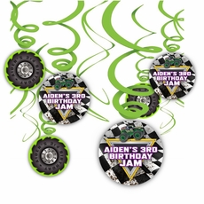 Monster Jam Grave Digger Truck Party Hanging Spinners Decorations