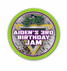 "Monster Jam Grave Digger Monster Truck Party Personalized 3"" Stickers"