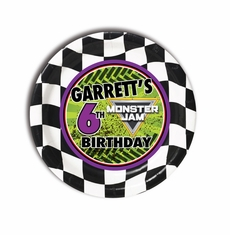 Monster Jam Grave Digger Monster Truck Party Personalized 7inch Cake Plates