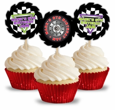 Monster Jam Grave Digger Monster Truck Party Personalized Cupcake Toppers