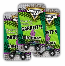 Monster Jam Grave Digger Monster Truck Party Personalized Favor Tags