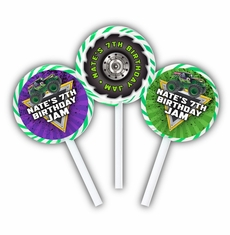 Monster Jam Grave Digger Monster Truck Party Personalized Lollipop Favors