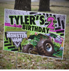 Monster jam grave digger truck party supplies monster jam grave digger monster truck party personalized party yard sign filmwisefo
