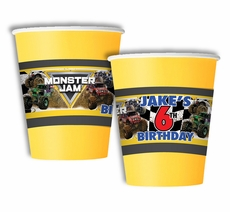 Monster Jam Party Personalized Party Cups