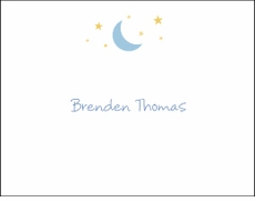 Moon & Stars Boy Note Card