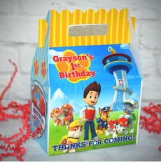 Paw Patrol Birthday Party Gable Favor Box