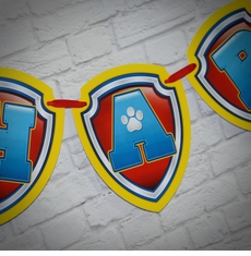 Paw Patrol Birthday Party Happy Birthday Pennant Banner