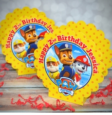 Paw Patrol Birthday Party Personalized Mini Table Decorations