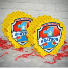 Paw Patrol FIRST Birthday Party Personalized Mini Table Decorations