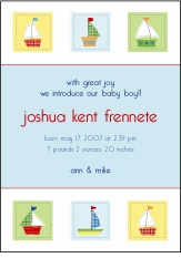 PBK Baby Boats Birth Announcement
