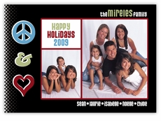 Peace Love Rock Photo Holiday Card