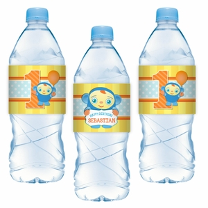 Peek-A-Boo Personalized Water Bottle Adhesive Labels