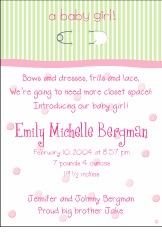 Pin on Stripes Girl Birth Announcement