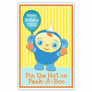 Pin the Party Hat on Peek-A-Boo Party Game