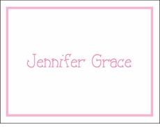 Pink Border Note Cards