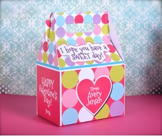 Pinky Dot Personalized<br>Valentine's Day Treat Box