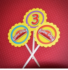 Play-Doh Personalized Birthday Cupcake Toppers