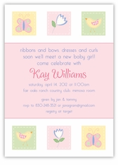 Pottery Barn Kids inspired Girl Baby Shower Invitation