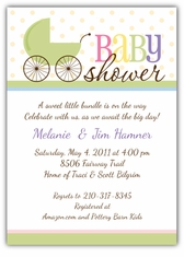 Precious Pram Baby Shower Invitation