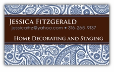 Pretty Paisley Business Cards